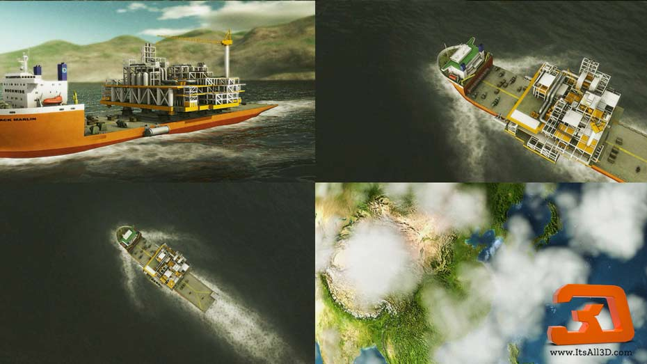 Picture showing a visual of an instructional 3D video for DOCKWISE, created by ITSALL3D